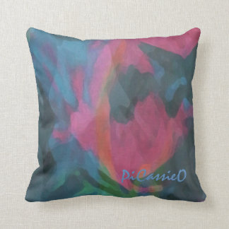 """Pink Lady"" American Mojo Square Pillow"