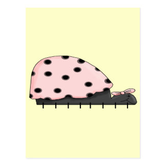 Pink Lady Bug IV Postcard
