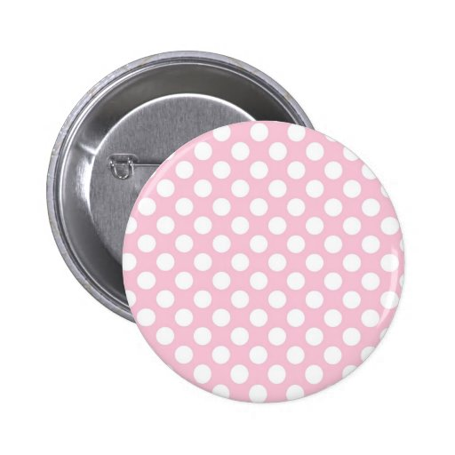 Pink Lady Collection - Big White Dots Pins