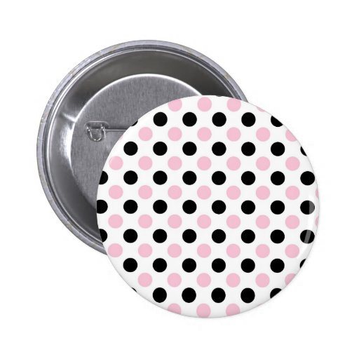 Pink Lady Collection - Pink Black Dots Button