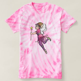 """Pink Lady"" — Fairies Theme Tie-Die T-Shirt"
