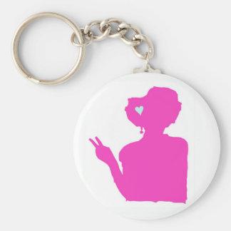 Pink lady keychain