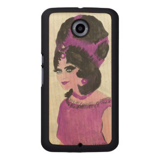 Pink Lady Wood Phone Case