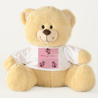 Pink Ladybug I Belong To Personalized Teddy Bear