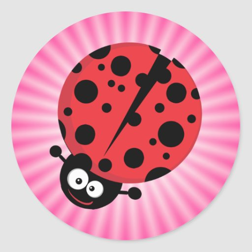 Pink Ladybug Stickers