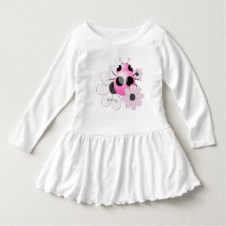 Pink Ladybug With Daises Dress