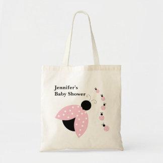 Pink Ladybugs Baby Shower Bag