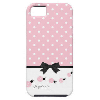 Pink Ladybugs Custom iPhone 5 Case