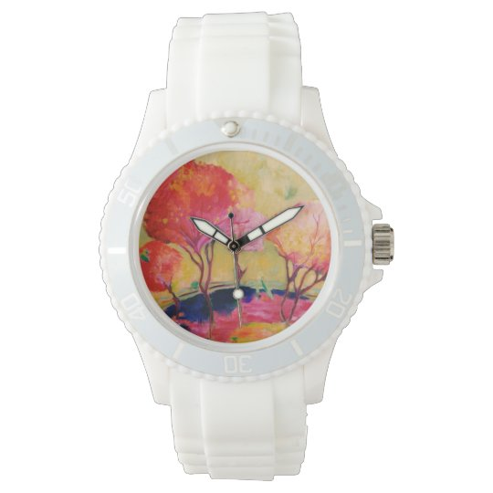 Pink landscape wristwatches