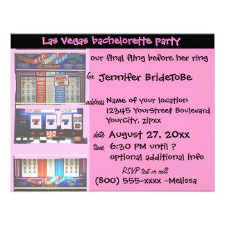 Pink Las Vegas Bachelorette Party Personalized Invitation