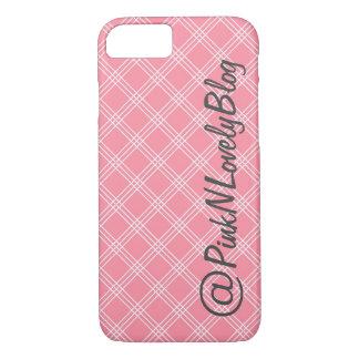 Pink Lattice Social Media iPhone 7 Case