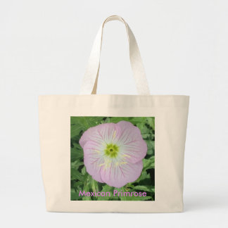 Pink Lavender Mexican Primrose Flower Tote Bags