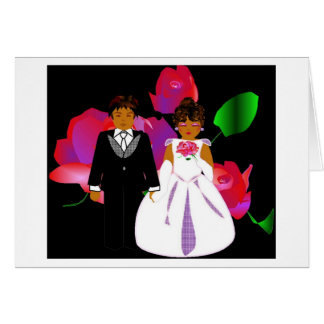 """Pink Lavender Rose II"" Wedding Note Card"
