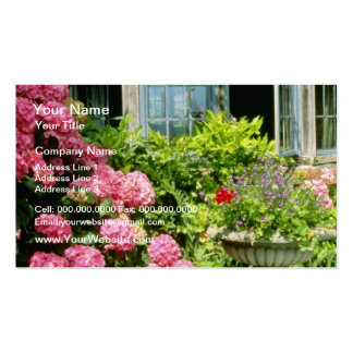 Pink Leaded Window, Hydrangea macrophylla, Urn Wit Pack Of Standard Business Cards