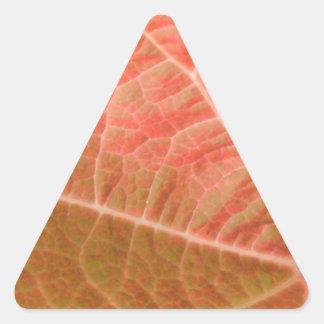 Pink Leaf Triangle Sticker
