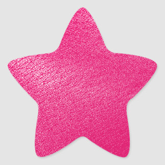 Pink Leather Look Star Sticker