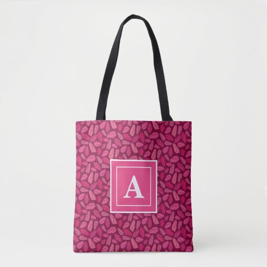 Pink Leaves Tote Bag