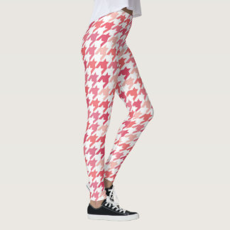 PINK LEGGINGS - hot Pink Houndstooth Pattern
