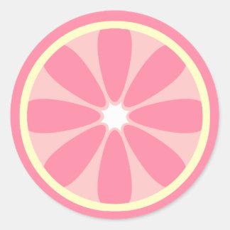 Pink Lemon Slice Sticker