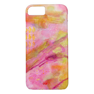 Pink Lemonade Abstract iPhone 7 Case