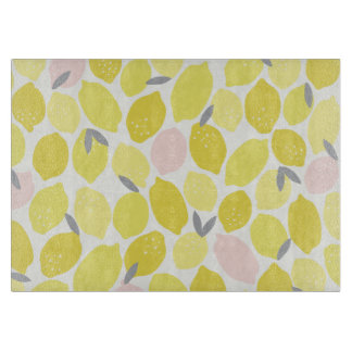 Pink Lemonade by Origami Prints Cutting Board