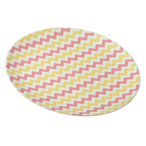Pink Lemonade Chevron Plate