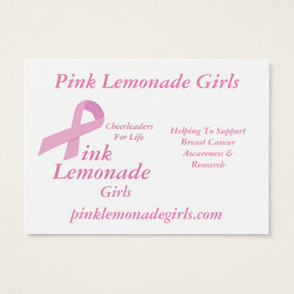 Pink Lemonade Girls Business Card