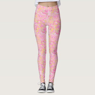 Pink lemonade leggings