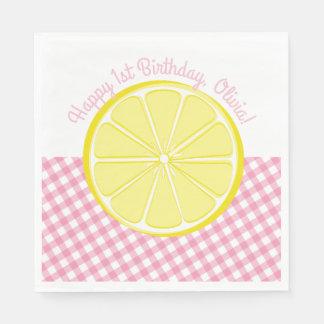 Pink Lemonade Party Napkins