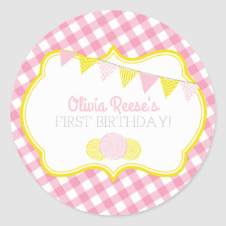 Pink Lemonade Party Sticker