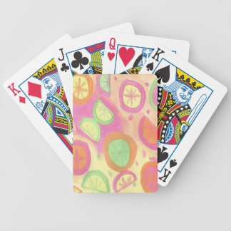 Pink Lemonade Pattern Bicycle Playing Cards