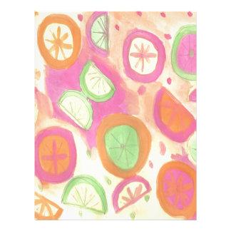 Pink Lemonade Pattern Letterhead