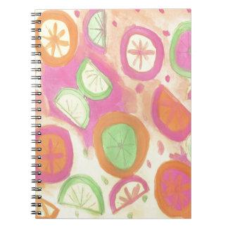 Pink Lemonade Pattern Notebook