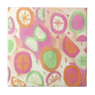 Pink Lemonade Pattern Tile