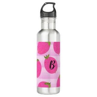 Pink Lemons Summer Fruit Watercolor Fun Bright 710 Ml Water Bottle