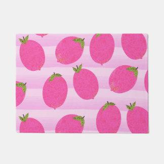 Pink Lemons Summer Fruit Watercolor Fun Bright Doormat