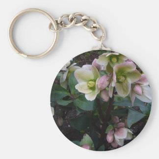 Pink Lenten Rose keychain