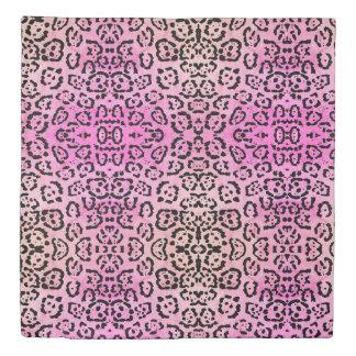 Pink Leopard Cat Animal Oil Paint Effect Duvet Cover