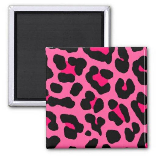 Pink Leopard Fridge Magnets