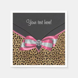 Pink Leopard Paper Napkin