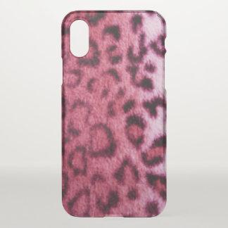 Pink Leopard Pattern Design iPhone X Case