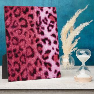 Pink Leopard Pattern Design Plaque