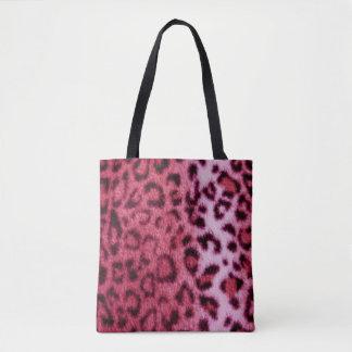 Pink Leopard Pattern Design Tote Bag