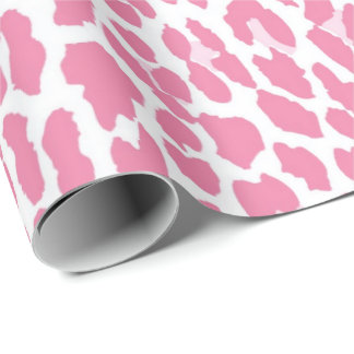 Pink Leopard Pattern Wrapping Paper