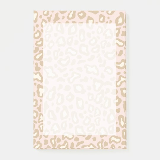 Pink Leopard Post It Notes Gift