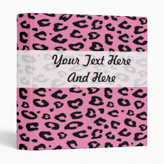 Pink leopard print binder | Personalizable