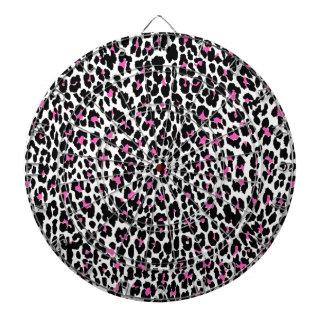 pink leopard print dartboard