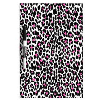pink leopard print dry erase board