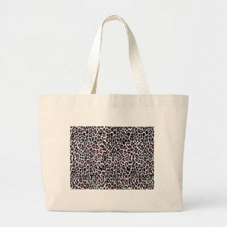 pink leopard print large tote bag