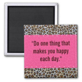 Pink & Leopard Print Magnet